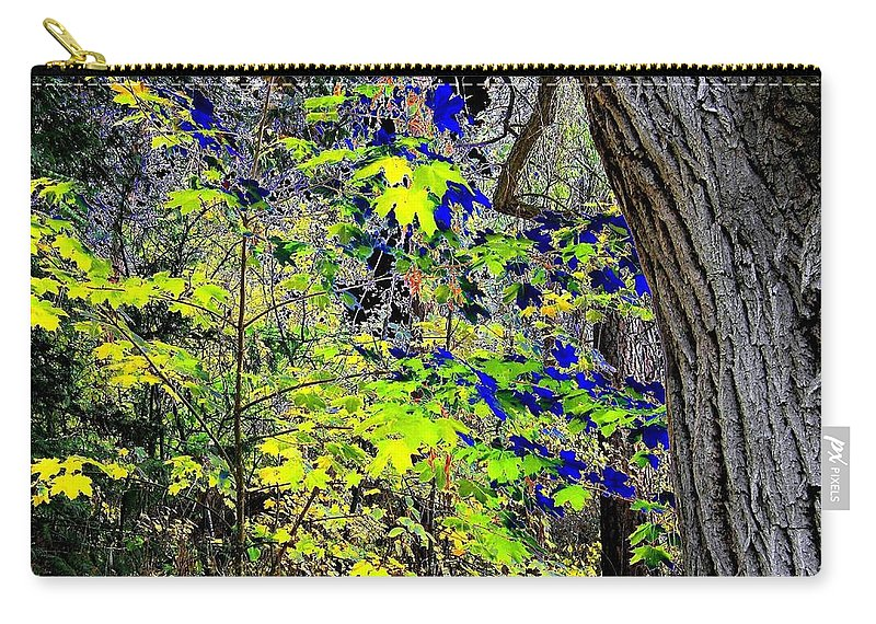 Surreal Carry-all Pouch featuring the photograph Autumn Blue by Will Borden