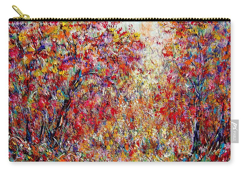 Nature Carry-all Pouch featuring the painting Autumn Brilliance by Natalie Holland