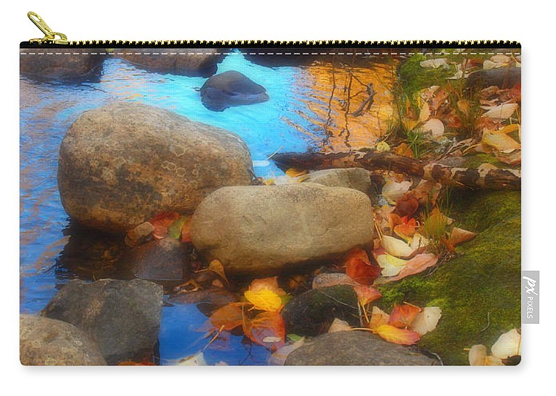 Autumn Carry-all Pouch featuring the photograph Autumn By The Creek by Tara Turner