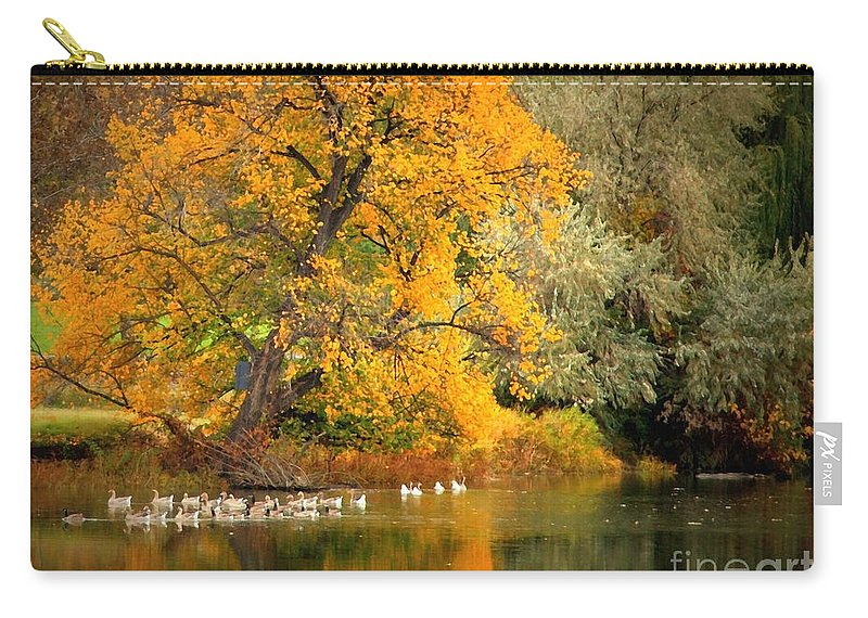 Fall Carry-all Pouch featuring the photograph Autumn Calm by Carol Groenen