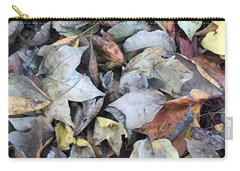 Autumn Carpet Carry-all Pouch featuring the photograph Autumn Carpet II by James Pinkerton