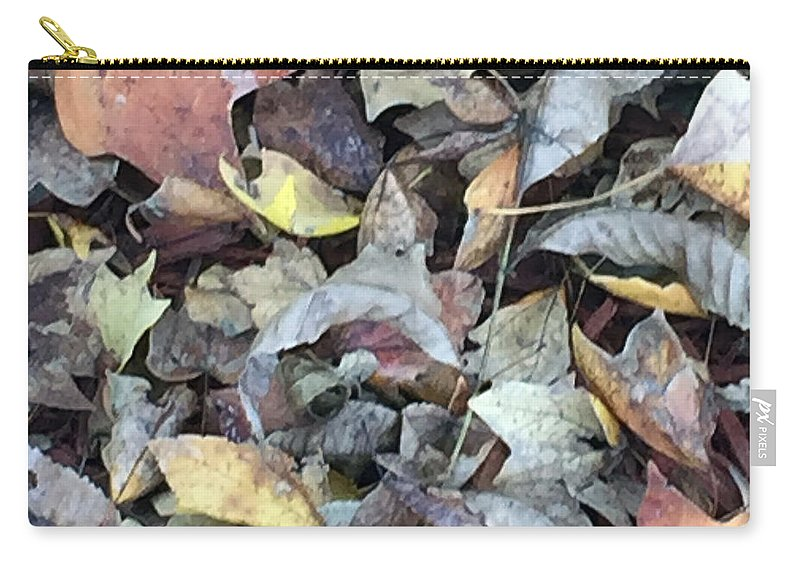 Autumn Carpet Carry-all Pouch featuring the photograph Autumn Carpet by James Pinkerton