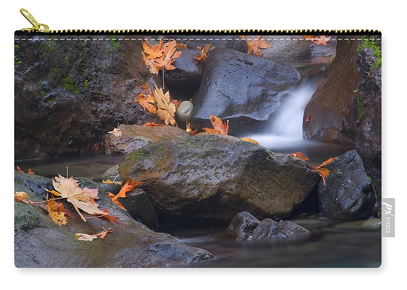 Fall Carry-all Pouch featuring the photograph Autumn Cascades by Mike Dawson