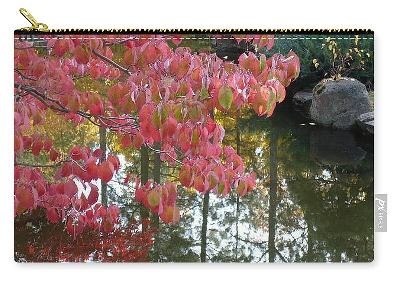 Colorful Carry-all Pouch featuring the photograph Autumn Color Poster by Carol Groenen