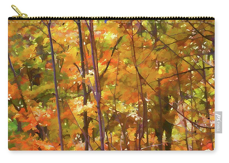 Autumn Colored Carry-all Pouch featuring the painting Autumn Colored by Jeelan Clark