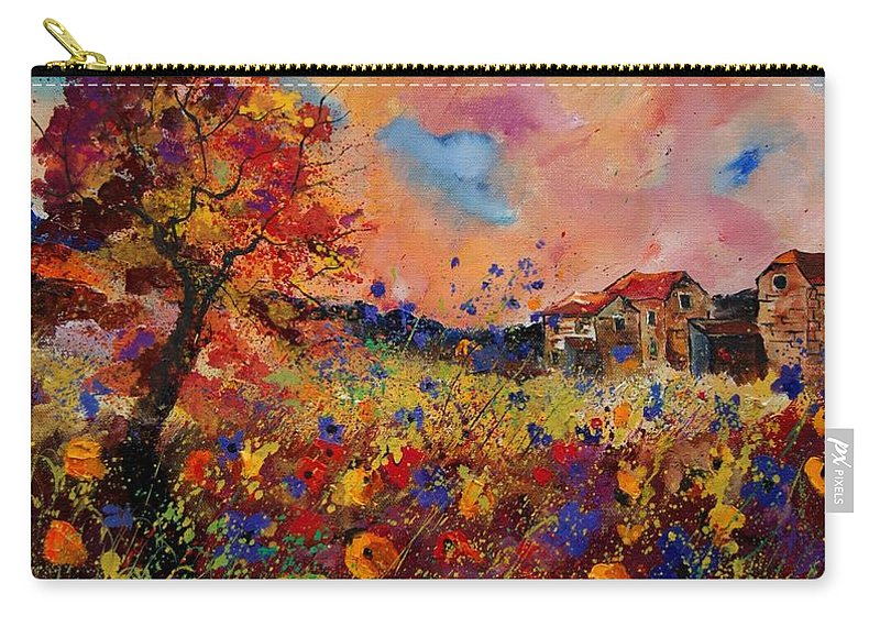 Poppies Carry-all Pouch featuring the painting Autumn Colors by Pol Ledent