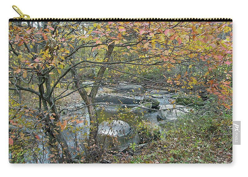 Creek Carry-all Pouch featuring the photograph Autumn Comes To The Unami Creek by Mother Nature