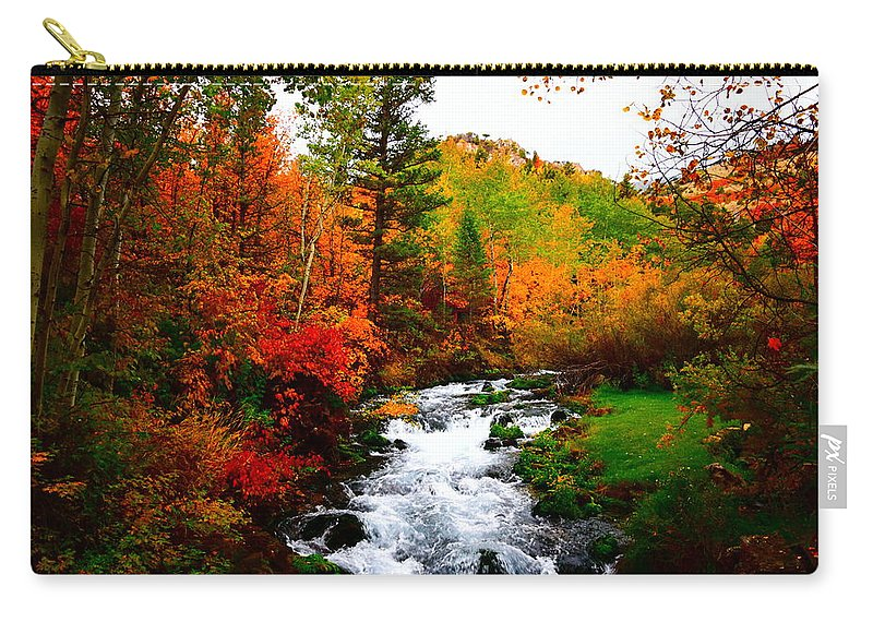 Autumn Carry-all Pouch featuring the photograph Autumn Creek by Carol Dyer