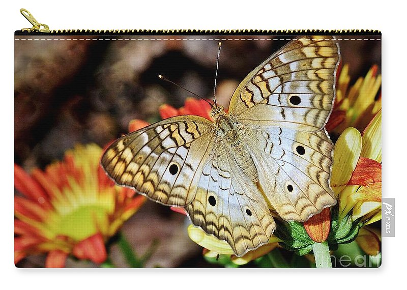 Butterfly Carry-all Pouch featuring the photograph Autumn Delight by Lisa Renee Ludlum