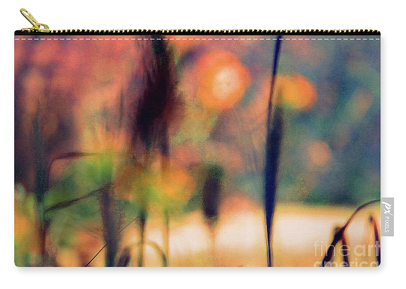 Nature Carry-all Pouch featuring the photograph Autumn Dreams Abstract by Karen Adams