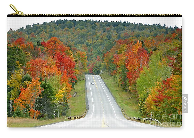 Autumn Carry-all Pouch featuring the photograph Autumn Drive by David Lee Thompson