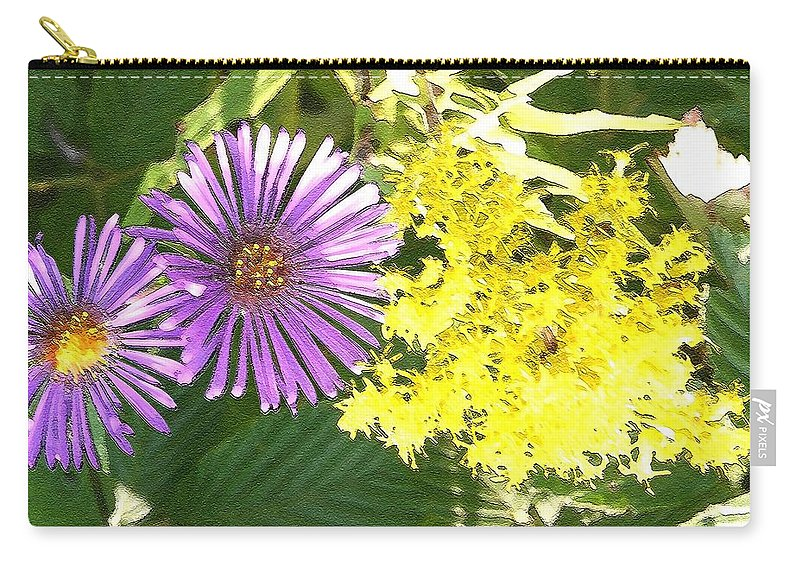 Aster Carry-all Pouch featuring the photograph Autumn Duo by Nelson Strong