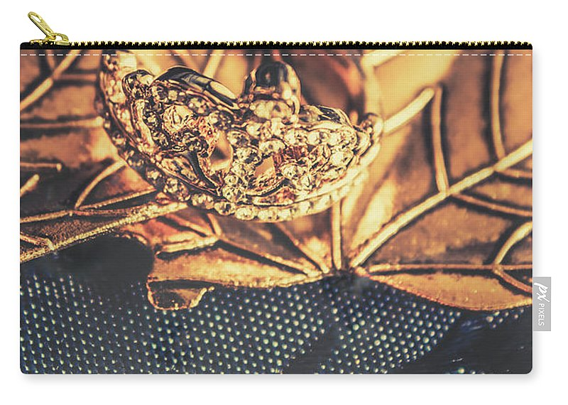 Design Carry-all Pouch featuring the photograph Autumn Fashion Diamonds by Jorgo Photography - Wall Art Gallery