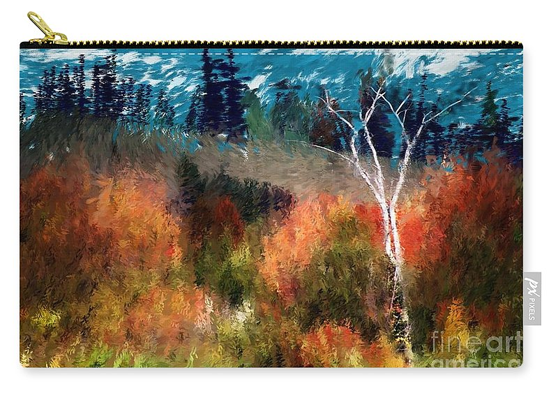 Digital Photo Carry-all Pouch featuring the digital art Autumn Feel by David Lane