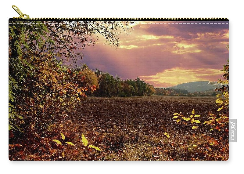 Autumn Carry-all Pouch featuring the photograph Autumn Fields by Alex Lim