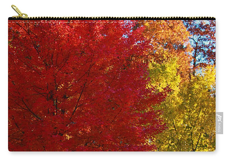 Brillant Carry-all Pouch featuring the photograph Autumn Fire In Red And Gold by Allen Beatty