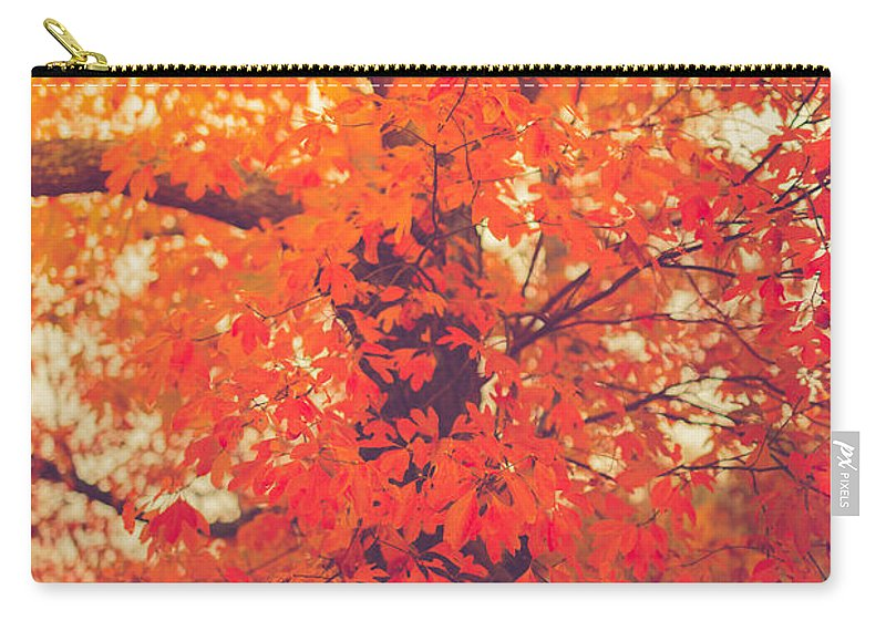 Autumn Carry-all Pouch featuring the photograph Autumn Flame by Shane Holsclaw