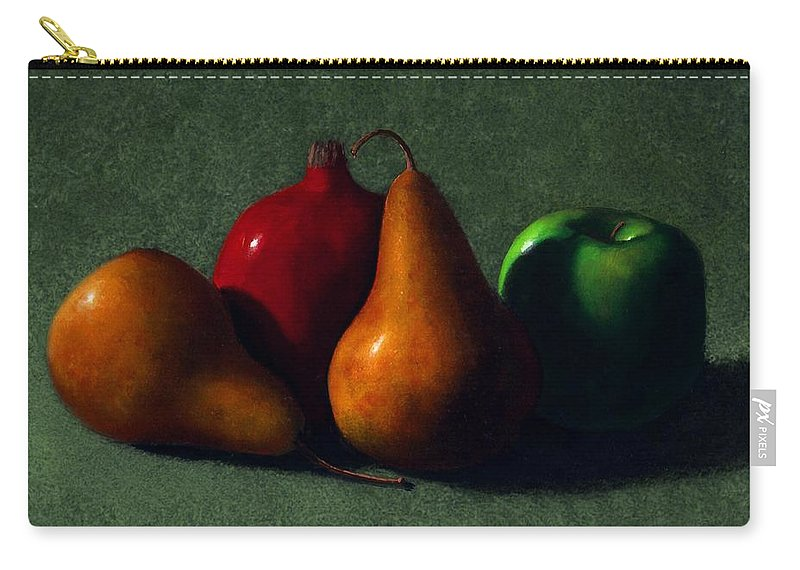 Still Life Carry-all Pouch featuring the painting Autumn Fruit by Frank Wilson