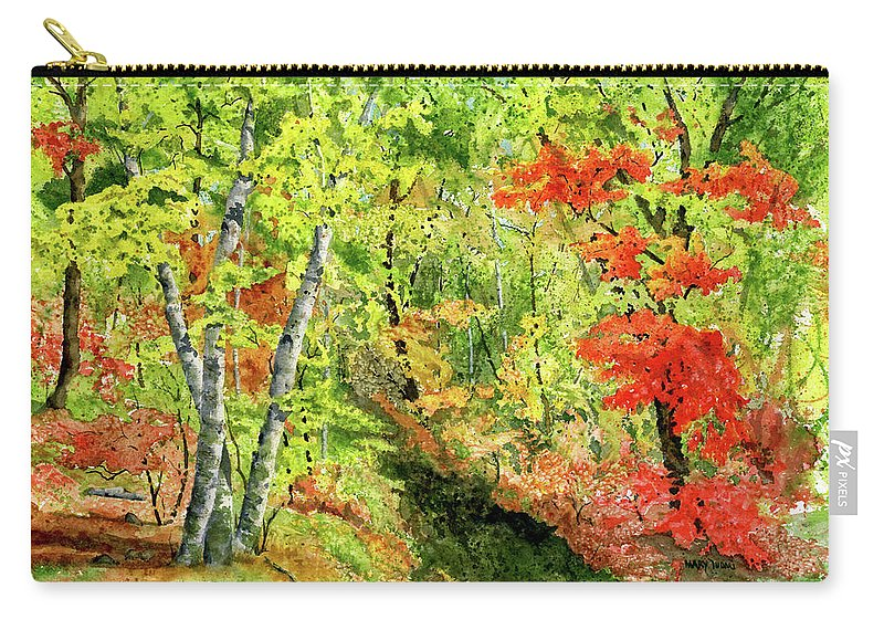 Autumn Carry-all Pouch featuring the painting Autumn Fun by Mary Tuomi