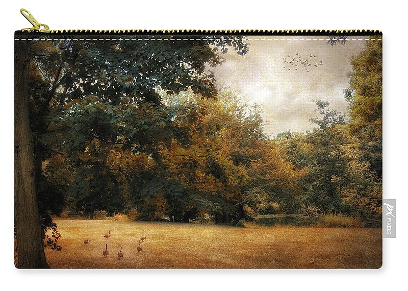 Autumn Carry-all Pouch featuring the photograph Autumn Geese by Jessica Jenney