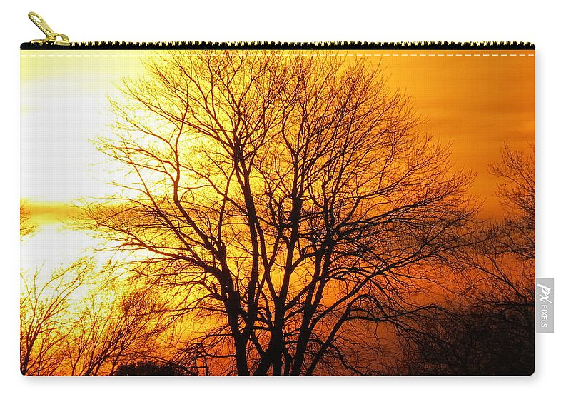 Sunset Carry-all Pouch featuring the photograph Autumn Glow by Brenda Dowell