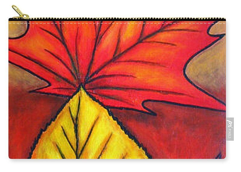 Autumn Carry-all Pouch featuring the painting Autumn Glow by Lisa Lorenz
