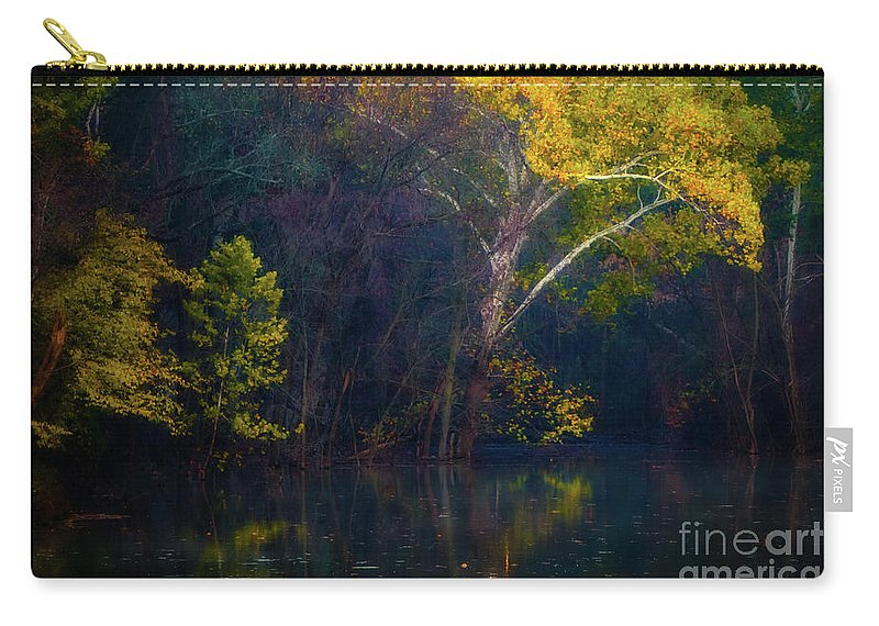 Autumn Gold Carry-all Pouch featuring the photograph Autumn Gold by Doug Sturgess