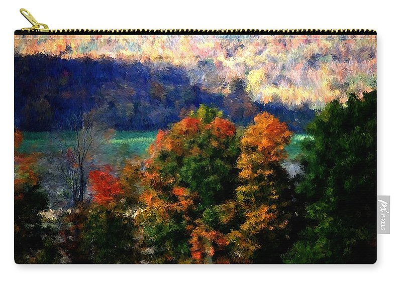 Digital Photograph Carry-all Pouch featuring the photograph Autumn Hedgerow by David Lane