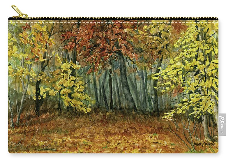 Autumn Carry-all Pouch featuring the painting Autumn Hollow by Mary Tuomi