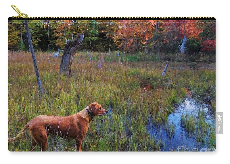 Hunt Carry-all Pouch featuring the photograph Autumn Hunt by Mim White