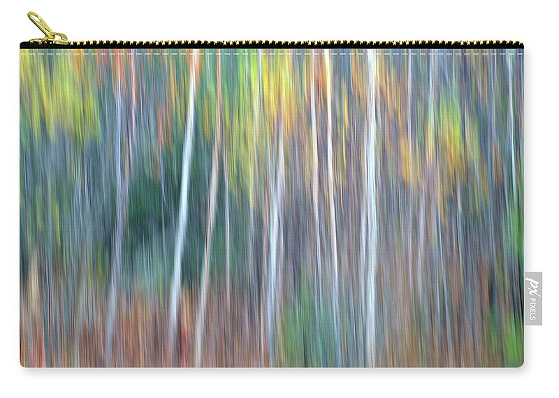Forest Pastels Form An Autumn Impression Carry-all Pouch featuring the photograph Autumn Impression by Bill Morgenstern