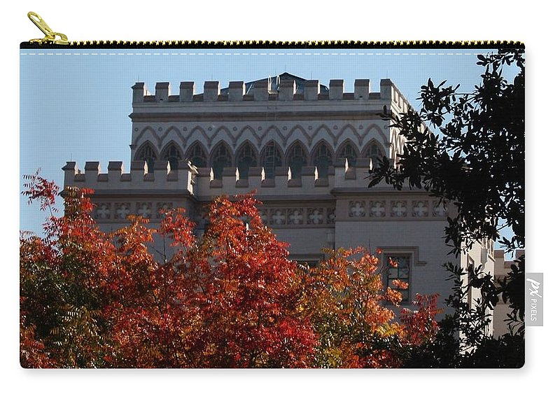 Autumn In The Deep South Carry-all Pouch featuring the photograph Autumn In Baton Rouge by Kathy Kirkland