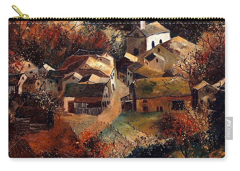 Tree Carry-all Pouch featuring the painting Autumn In Frahan by Pol Ledent