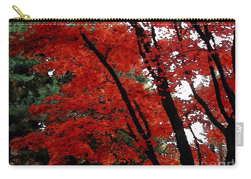 Autumn Carry-all Pouch featuring the photograph Autumn in New England by Melissa A Benson