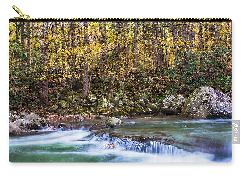 Smoky Mountains Carry-all Pouch featuring the photograph Autumn In Smoky Mountains National Park by Carol Mellema