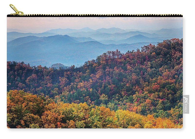 Smoky Mountains Carry-all Pouch featuring the photograph Autumn In The Great Smoky Mountains by Carol Mellema