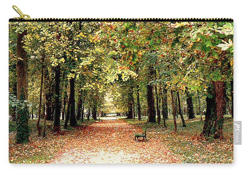 Autumn Carry-all Pouch featuring the photograph Autumn in the Park by Nancy Mueller