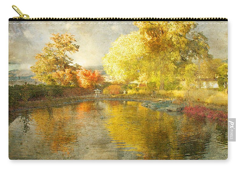 Japanese Gardens Carry-all Pouch featuring the photograph Autumn In The Pond by Tara Turner