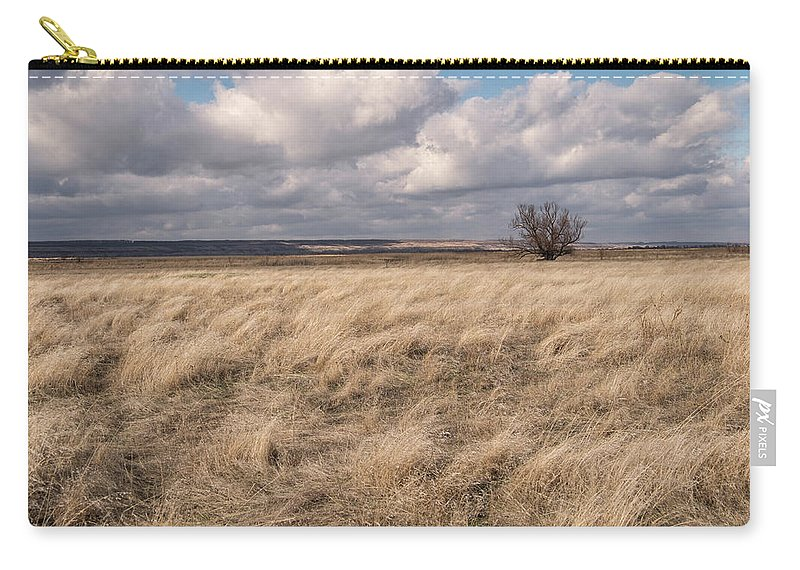 Natalya Antropova Carry-all Pouch featuring the photograph Autumn In The Steppes by Natalya Antropova