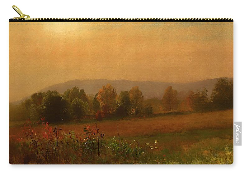 Painting Carry-all Pouch featuring the painting Autumn Landscape by Mountain Dreams