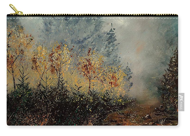 Tree Carry-all Pouch featuring the painting Autumn Landscape by Pol Ledent