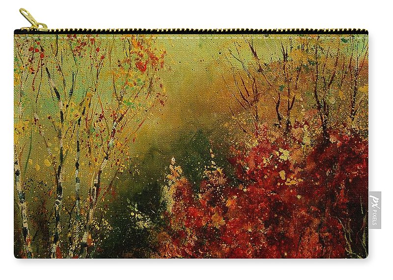 Tree Carry-all Pouch featuring the painting Autumn Lanfscape by Pol Ledent