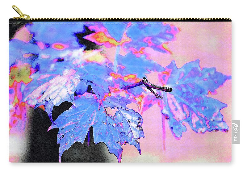New England Carry-all Pouch featuring the photograph Autumn Leaves In Blue by Betty LaRue