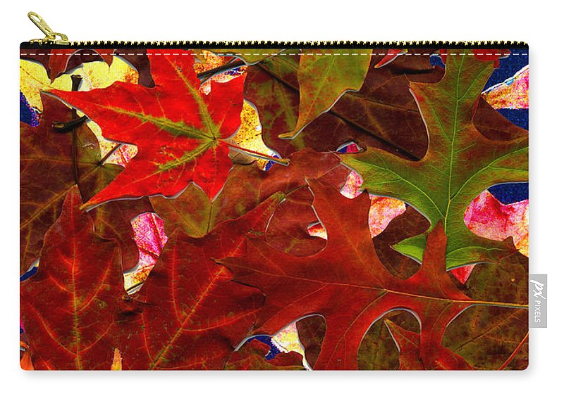 Collage Carry-all Pouch featuring the photograph Autumn Leaves by Nancy Mueller
