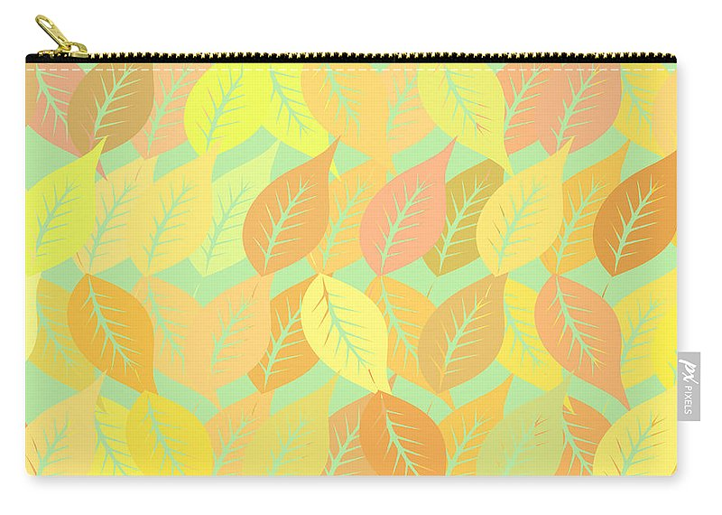 Pattern Carry-all Pouch featuring the digital art Autumn Leaves Pattern by Gaspar Avila