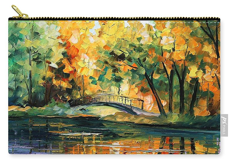 Afremov Carry-all Pouch featuring the painting Autumn by Leonid Afremov
