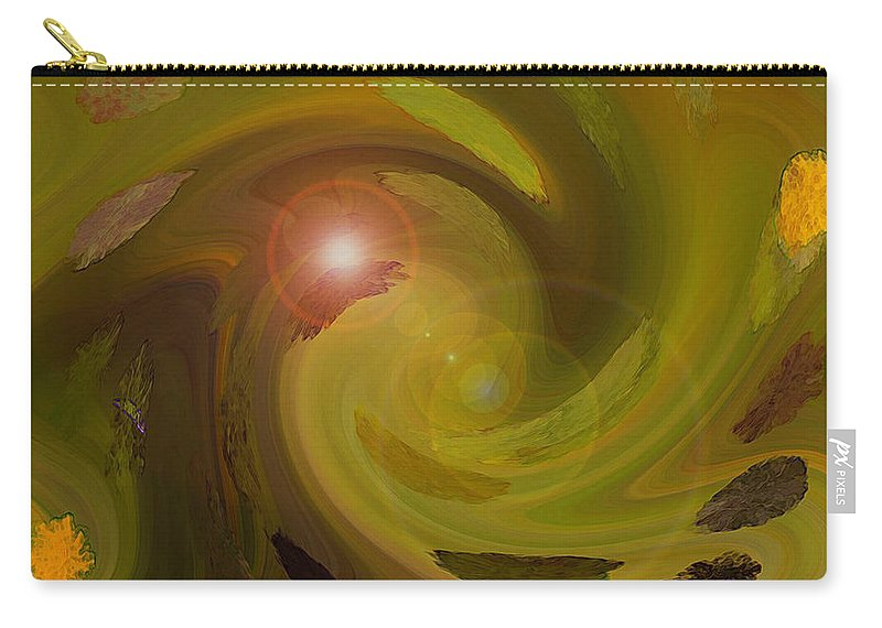 Digital Painting Abstract Carry-all Pouch featuring the digital art Autumn Light by Linda Sannuti