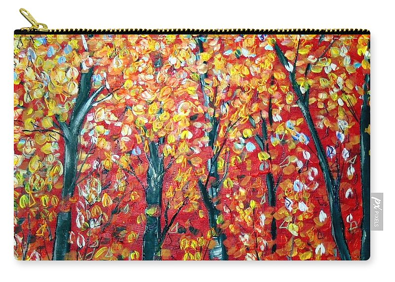 Landscape Carry-all Pouch featuring the painting Autumn by Luiza Vizoli