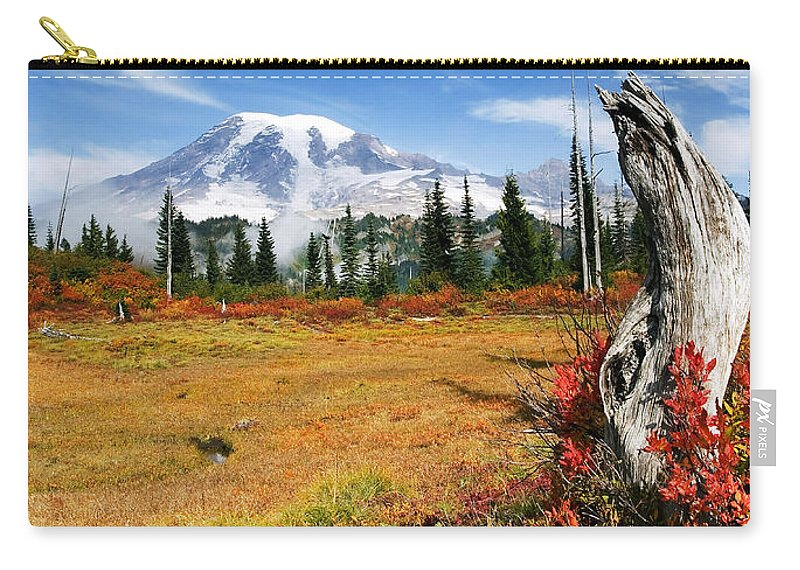 Rainier Carry-all Pouch featuring the photograph Autumn Majesty by Mike Dawson