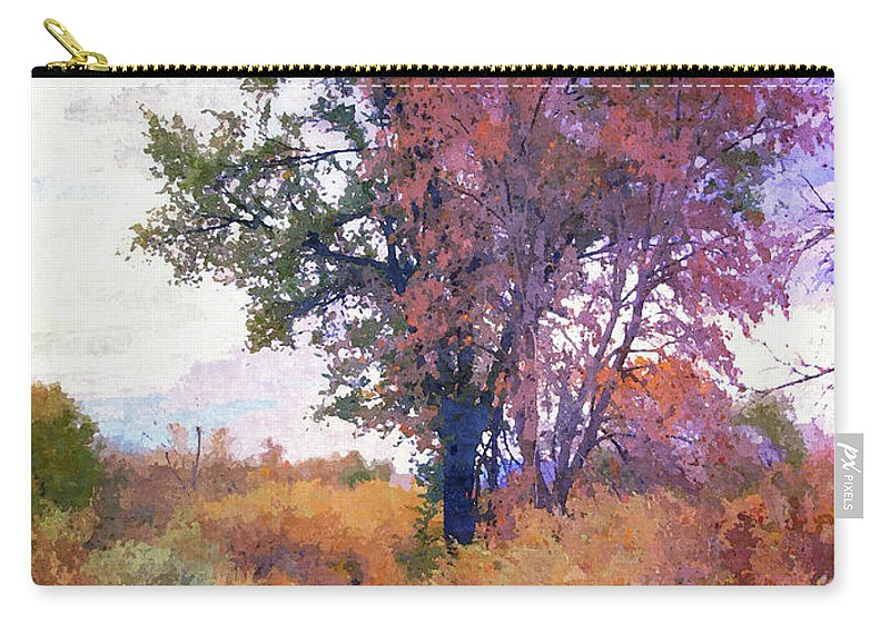 Autumn Landscape Carry-all Pouch featuring the digital art Autumn Melancholy by David King